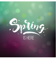 spring is here vector image