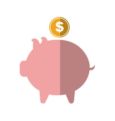 Piggy savings isolated icon vector