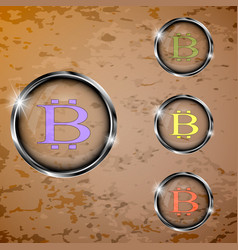 set of transparent buttons vector image