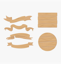 Wooden plank signs vector
