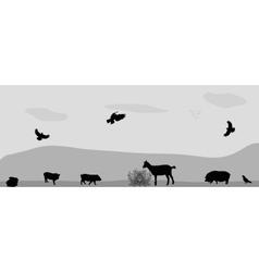 Animals on the farm vector