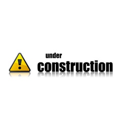 Under construction template vector