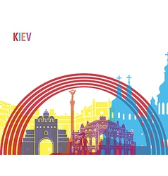 Kiev skyline pop vector