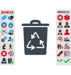 Trash can icon vector