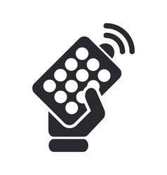 Remote icon vector