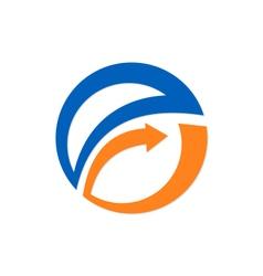 Arrow round business exchange logo vector