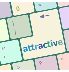 Attractive word on keyboard key notebook computer vector