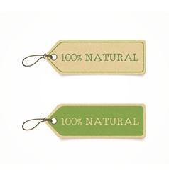 Eco friendly labels vector