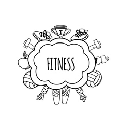 Fitness bublles white and black vector