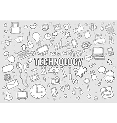 Technology background with media icons vector