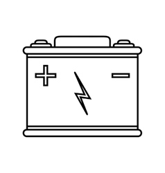 Battery power energy technology icon vector