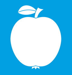 Black apple icon white vector