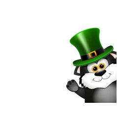 Black cat in the leprechaun hat saint patricks vector