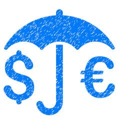 Financial protection grunge icon vector