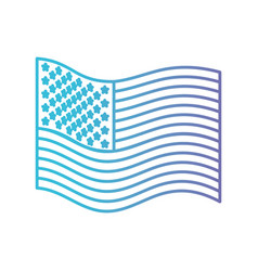 Flag united states of america wave side in color vector