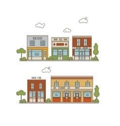 Flat City Street vector image vector image