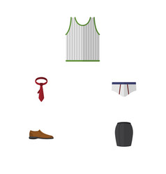 Flat garment set of male footware underclothes vector