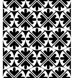 Geometric seamless pattern unusual black and white vector