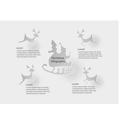 infographic of christmas with santa claus and vector image vector image