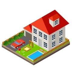 Isolated isomatic cottage vector image vector image