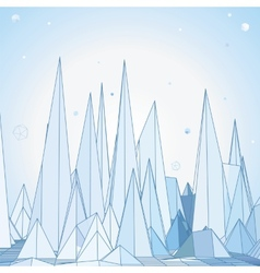Mountains 3D concept vector image