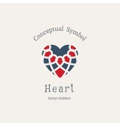 Ornamental Heart Logo vector image vector image