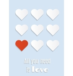 Postcard all you need is love vector