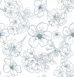Seamless apple flowers pattern backgrounds vector image
