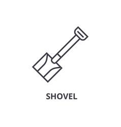 shovel line icon outline sign linear symbol vector image
