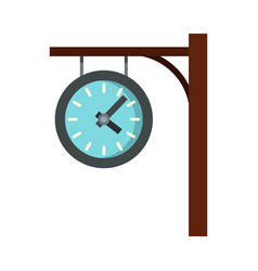 station clock icon flat style vector image vector image
