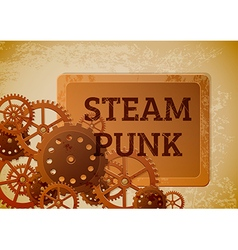 Steampunk banner vector image