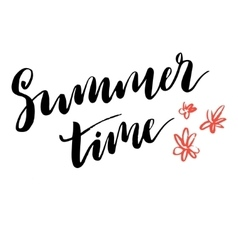 Summer time simple poster vector image vector image