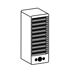 tower server isolated icon vector image