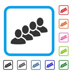 User queue framed icon vector