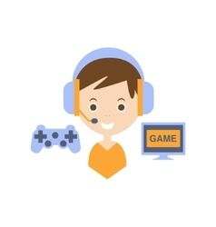 Video games as personal happiness idea vector