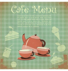 Vintage cover cafe menu vector