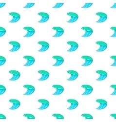 Water wave pattern cartoon style vector