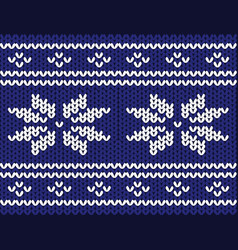 winter sweater pattern vector image