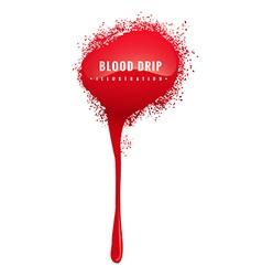 Grunge blood drip vector