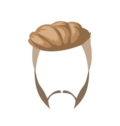 Beard mustache and hairstyle vector image