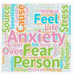 Change major source of stress and anxiety text vector