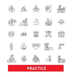 Practice routine procedure habit activity vector