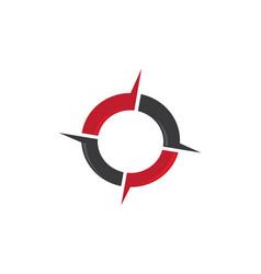 Compass logo template icon design vector