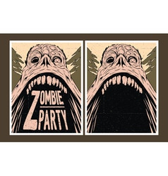 Zombie party invitation vector