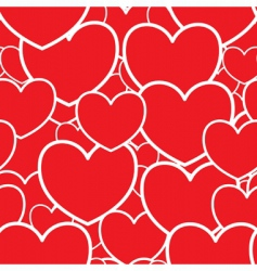 abstract red background with hearts vector image