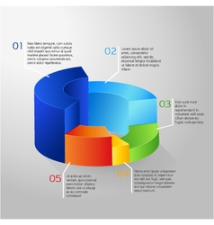 Circle colorful 3D diagram vector image