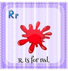 Flashcard of letter R vector image