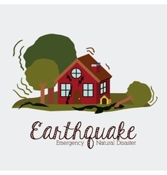 Natural disaster design vector