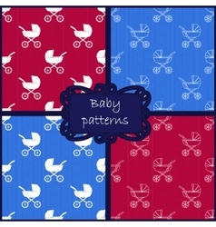 Baby patterns vector