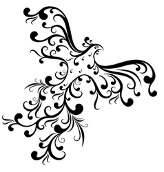 ornamental bird vector image